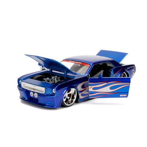 Big Time Muscle 1965 Ford Mustang GT Diecast Vehicle 1:24 Scale - Blue - image 1 of 4