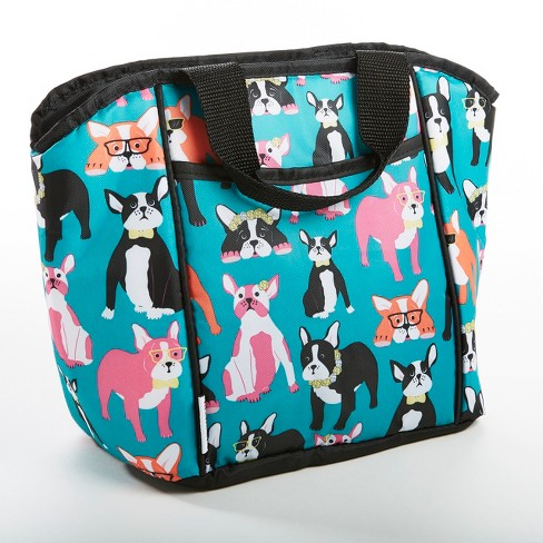 Fit Fresh Aria Lunch Tote Teal Pug