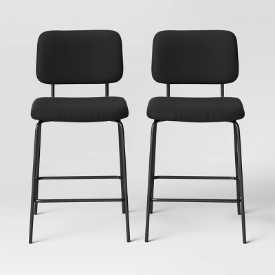 2pk Square Back Upholstered Counter Height Barstools - Room Essentials™