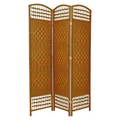 5 1/2 ft. Tall Fiber Weave Room Divider - Light Beige (3 Panels)