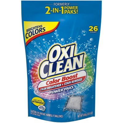 OxiClean Color Boost Color Brightener plus Stain Remover Power Packs - 26ct