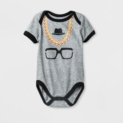 Baby Boys' RUN--DMC Short Sleeve Bodysuit - Medium Heather Gray 0-3M
