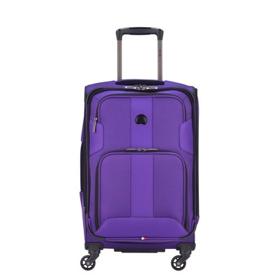 """DELSEY Paris Sky Max 20.5"""" Expandable Spinner Carry On Suitcase - Purple"""