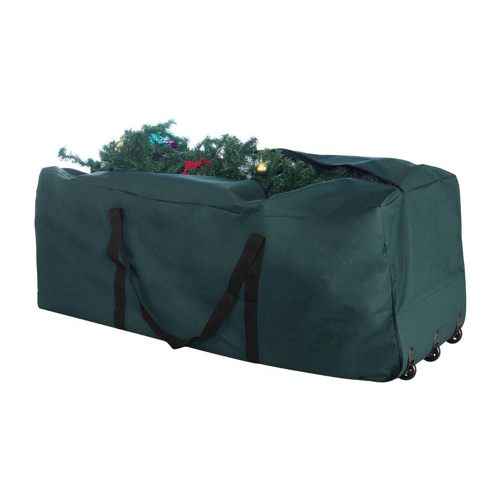 Image of Premium Green Rolling Christmas Tree Storage Duffel Bag for 9' Tree - Elf Stor