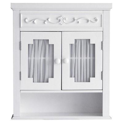 Lisbon Wall Cabinet White - Elegant Home Fashions