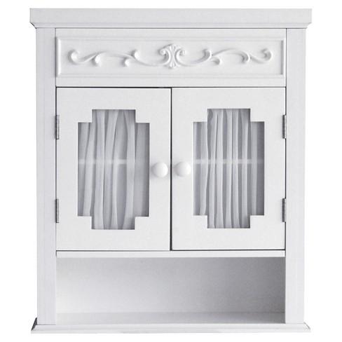 Lisbon Wall Cabinet White - Elegant Home Fashions - image 1 of 4