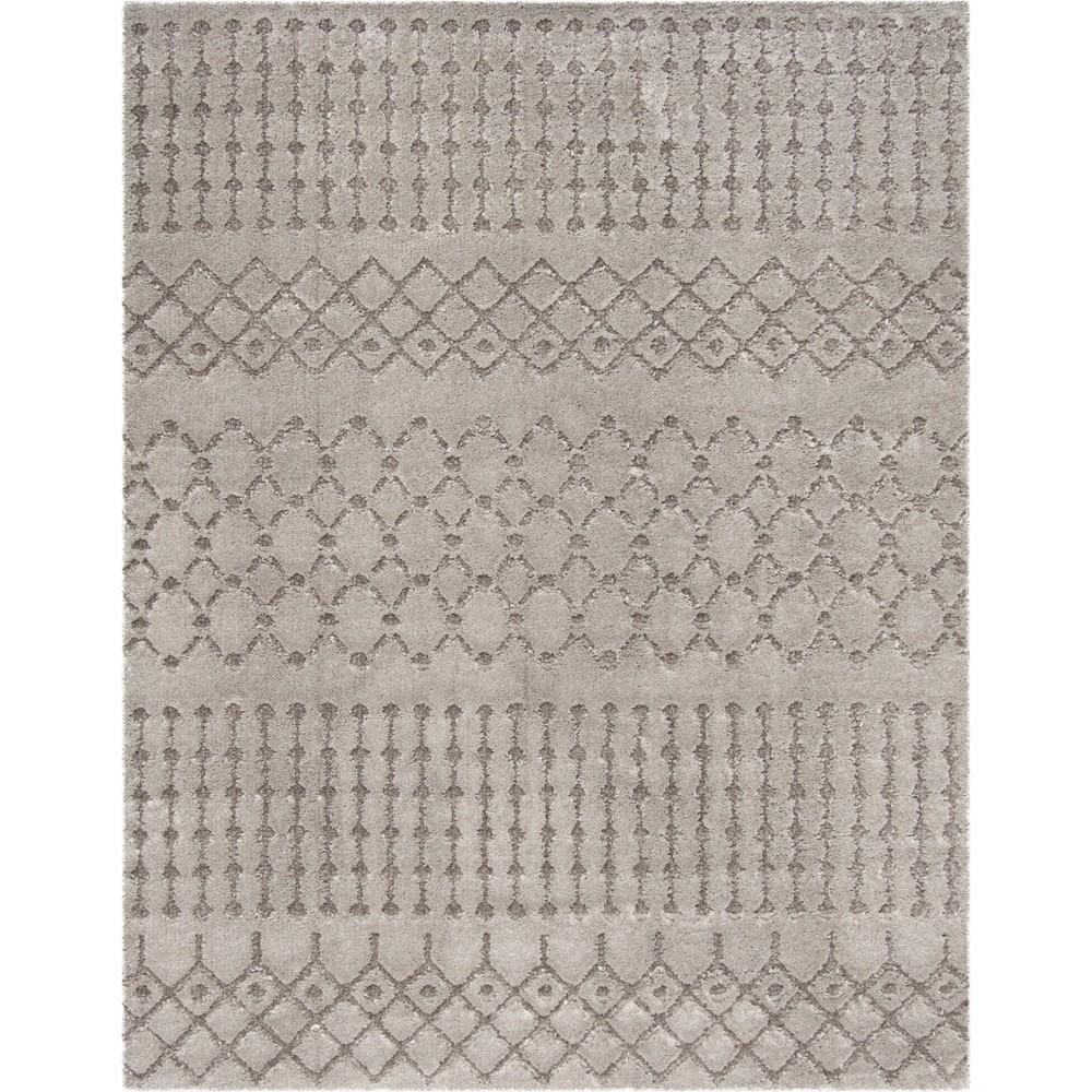 8'X10' Tribal Design Loomed Area Rug Gray - Safavieh