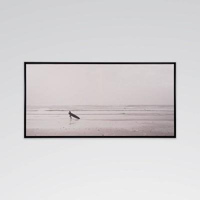 "40"" x 20.8"" Lone Surfer Framed Printed Canvas Wall Art - Threshold™"