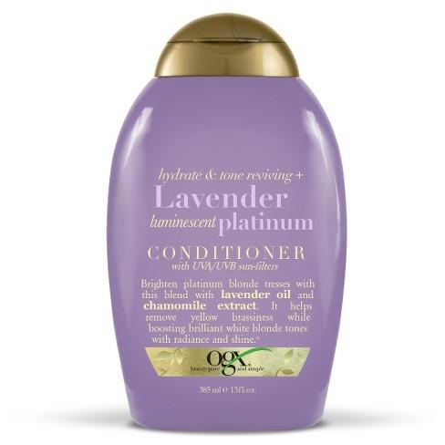 OGX Hydrate & Tone Reviving + Lavender Luminescent Platinum Conditioner - 13 fl oz - image 1 of 3