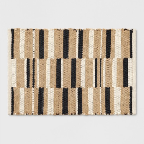 Black Stripe White Natural 2'x3' - Project 62™ - image 1 of 3