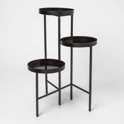 "27"" x 19.2"" 3-Tier Metal Planter Stand Black - Project 62™"