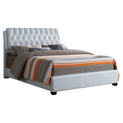 Ireland II Queen Bed White Faux Leather - Acme - image 1 of 2