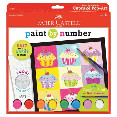 Faber-Castell Paint by Number - Cupcake Pop-Art