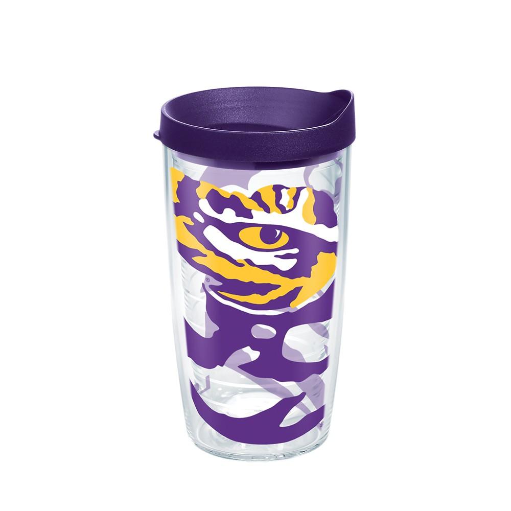 NCAA Lsu Tigers Water Bottle 16oz, Purple/Gold