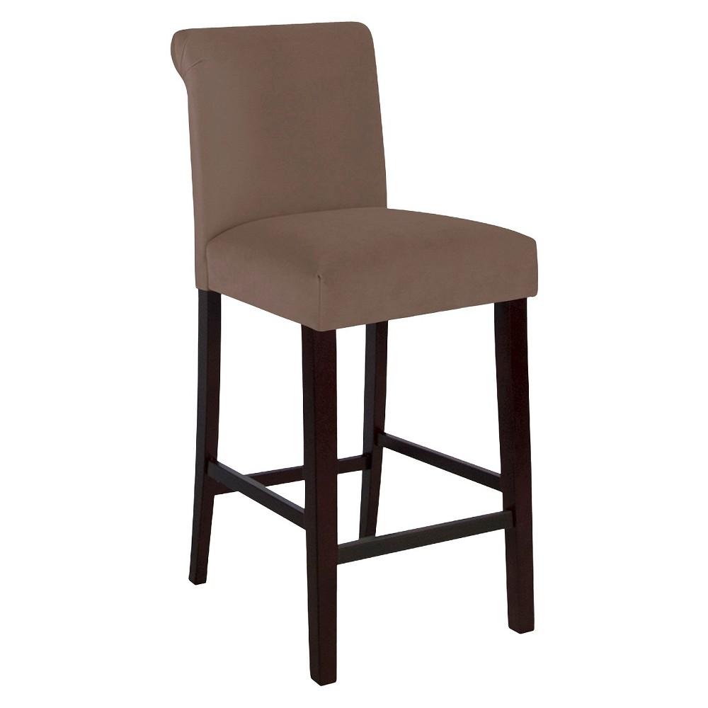25 Skyline Rollback Velvet Counter Stool - Skyline Furniture, Mystere Cocoa