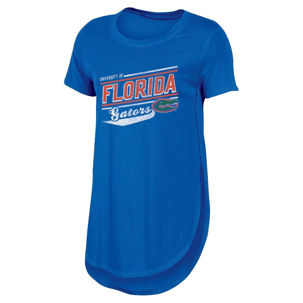 NCAA Women's Free Spirit Crew Neck Tunic Bi-Blend T-Shirt Florida Gators - M, Multicolored