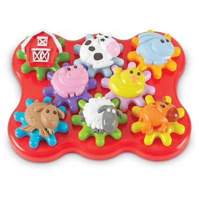 Learning Resources Build & Spin: Farm Friends, Fine Motor Toy, Ages 2+