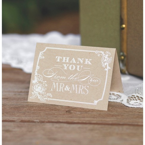 50ct Country Blossom Wedding Thank You Cards Target