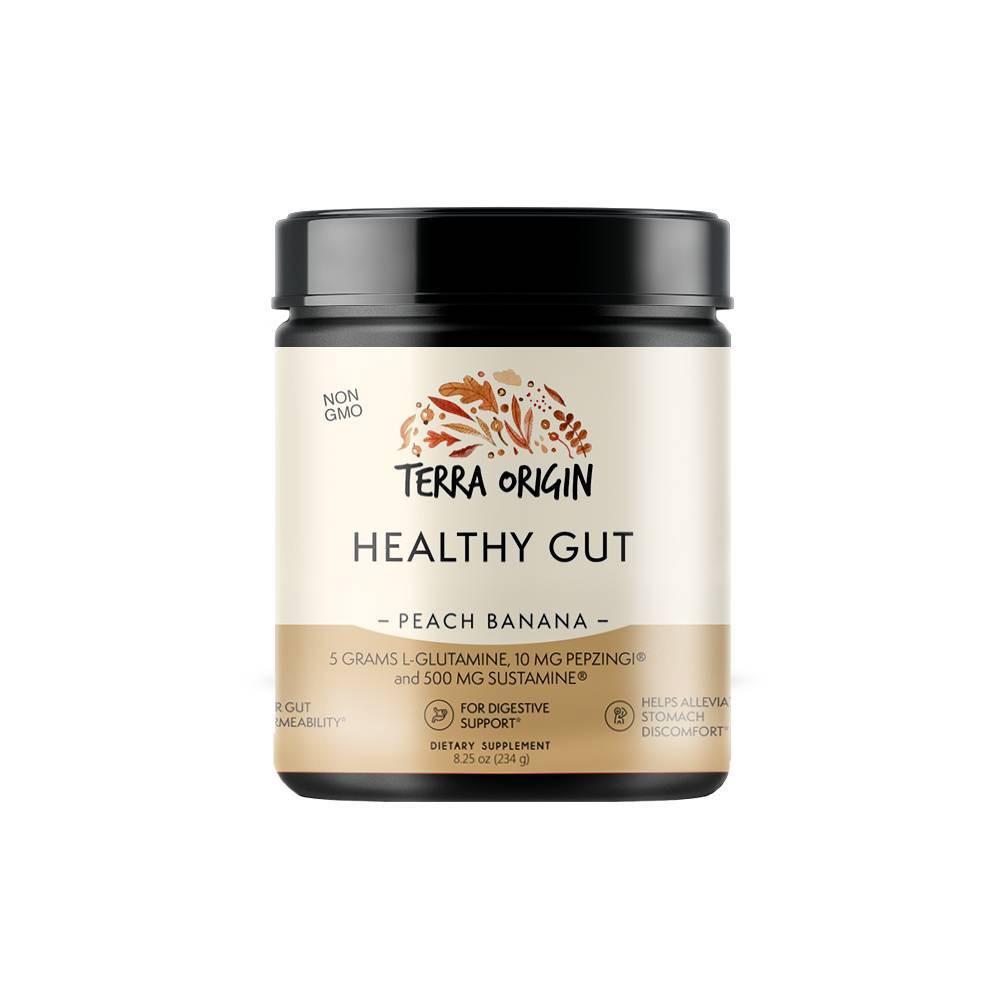 Image of Terra Origin Healthy Gut Powder Peach Banana - 7.83oz