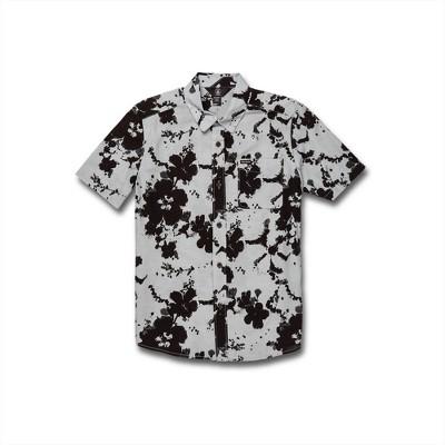 Volcom Boys Burres Button Up Short Sleeve Shirt