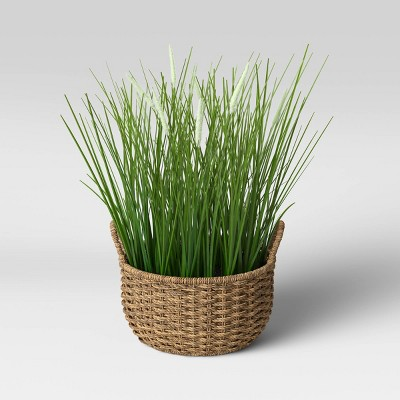 Faux Grass in Basket - Threshold™ designed with Studio McGee