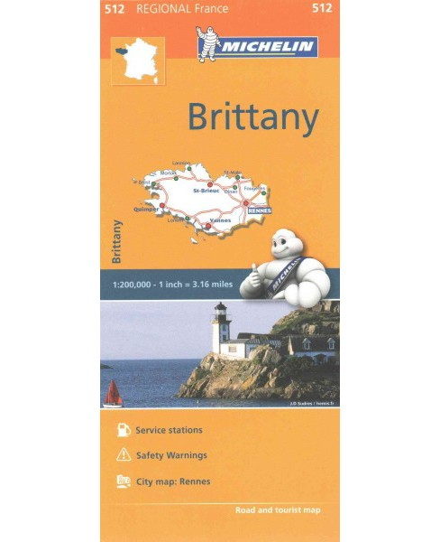 Michelin Regional France Brittany Bretagne (Multilingual) (Paperback) - image 1 of 1