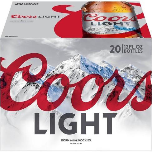 Coors Light Beer - 20pk/12 fl oz Bottles - image 1 of 3