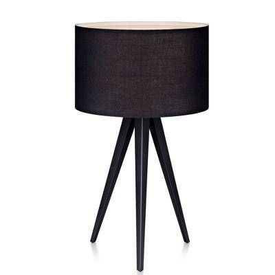 "20"" Tripod Table Lamp with Shade Black - Versanora"