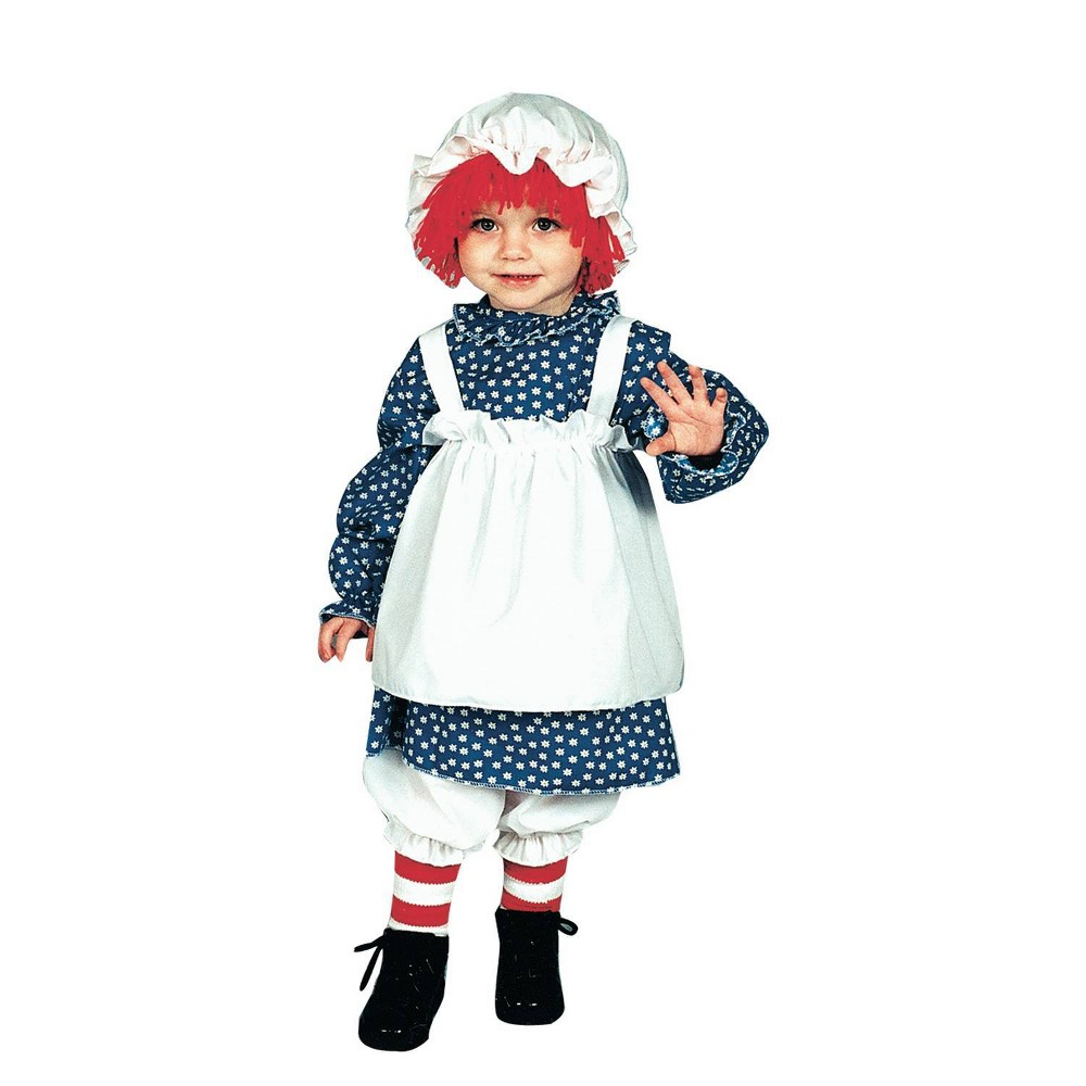 Image of Halloween Girls' Raggedy Ann Toddler Costume 1 To 2, Girl's, Size: 12-24 Months, MultiColored