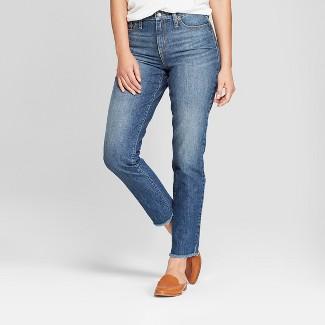 Women's High-Rise Straight Leg Jeans - Universal Thread™ Medium Wash 10