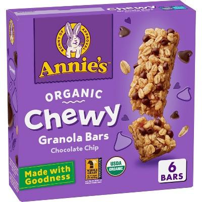 Annie's Chewy Granola Bar Chocolate Chip Granola - 5.28oz - 6ct