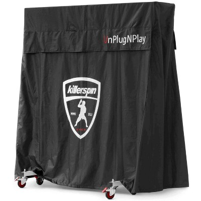 Killerspin 604-06 Adjustable MyT Jacket Ping Pong Tennis Table Universal Waterproof PVC Fabric Cover for Indoor or Outdoor Use, Black