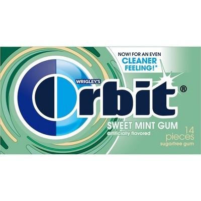 Orbit Sugar Free Sweet Mint Chewing Gum Single Pack - 14 Piece