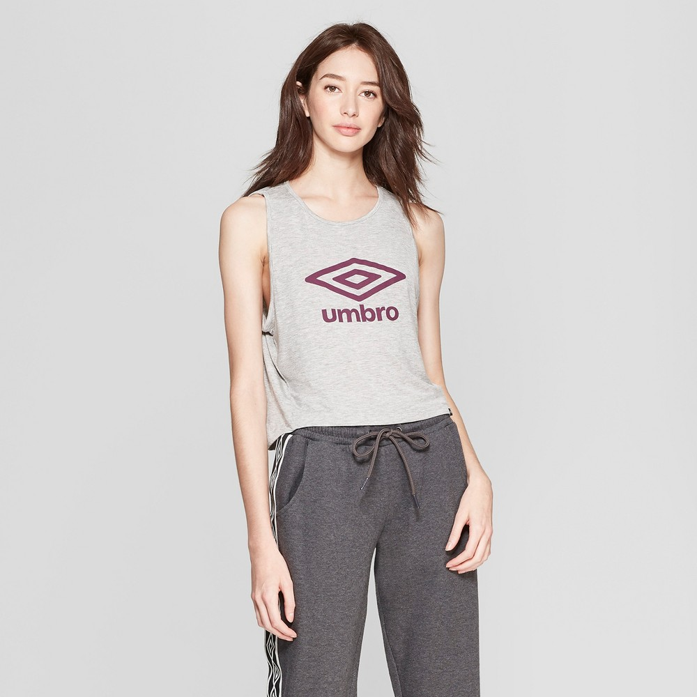 Image of Umbro Women's Muscle Tank - Gray/Dark Purple XXL
