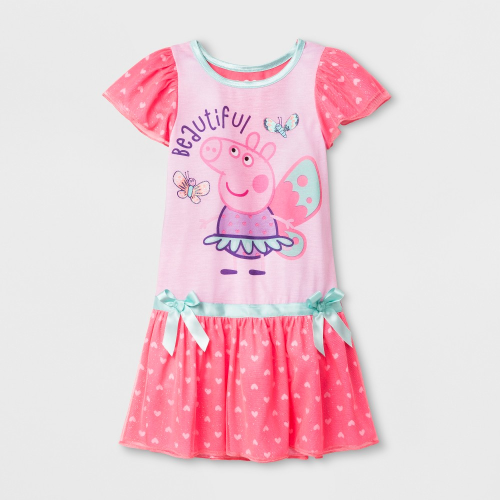 Toddler Girls' Peppa Pig Dressy Nightgowns - Pink 4T