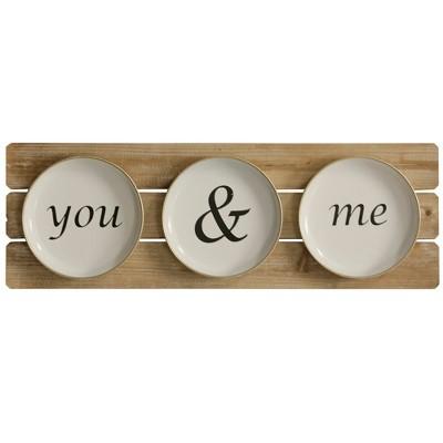 11.81  You & Me Plates Decorative Wall Art - StyleCraft