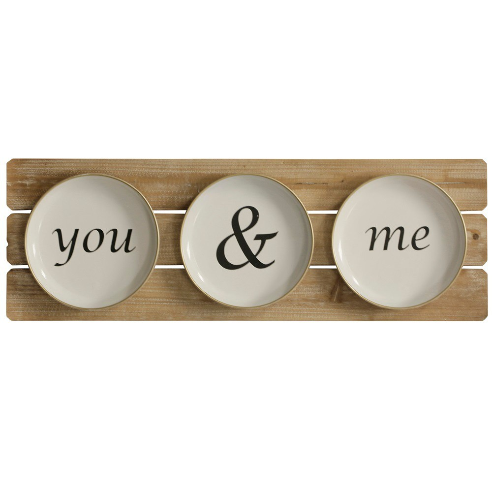 """Image of """"11.81"""""""" You & Me Plates Decorative Wall Art - StyleCraft"""""""