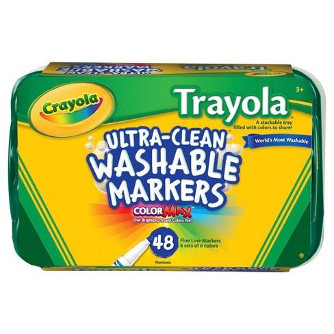 Crayola® UltraClean Trayola™ Markers Fineline Washable 48ct - image 1 of 5