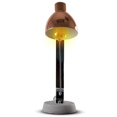 """21"""" Copper and Concrete Metal Table Lamp (Includes Energy Efficient Light Bulb) - Crystal Art - image 1 of 7"""