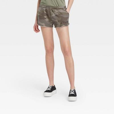 Women's Army Graphic Jogger Shorts - Camo