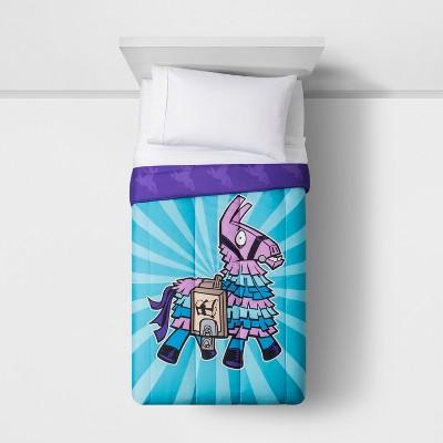 Fortnite Twin Comforter Blue