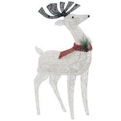 Philips Christmas LED Glitter Buck Novelty Sculpture with 120 Lights Pure White