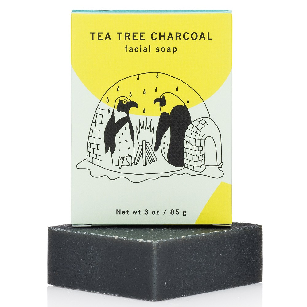 Image of Meow Meow Tweet Tea Tree Charcoal Facial Bar - 2.5oz