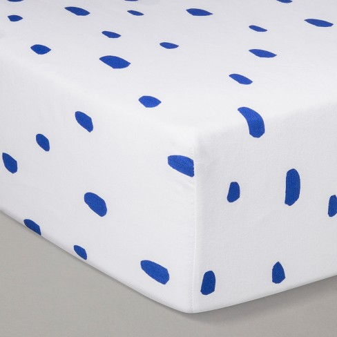 Crib Fitted Sheet - Cloud Island™ Blue - image 1 of 2