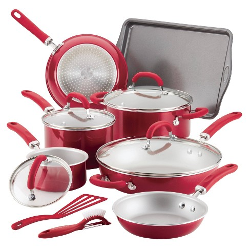 Rachael Ray Create Delicious 13pc Aluminum Nonstick Cookware Set - image 1 of 9