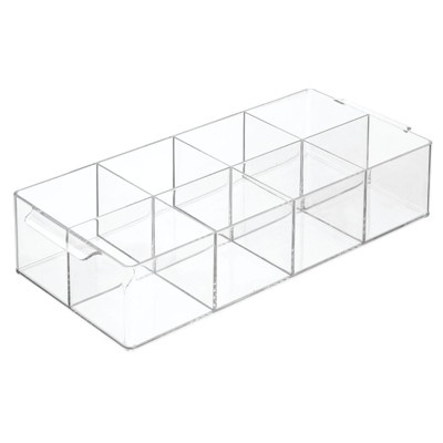 mDesign Plastic Tea Storage Organizer Caddy Tote, 8 Sections