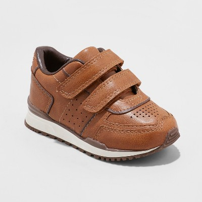 Toddler Boys' Pasquale Double Strap Sneakers - Cat & Jack™ Brown 7