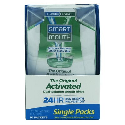 Smart Mouth Original Activated Dual Solution Breath Rinse - Trial Size - 4 fl oz/10ct