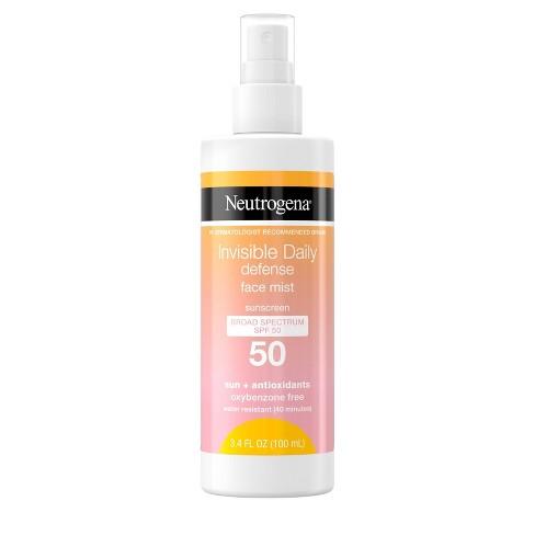 Neutrogena Invisible Daily Defense Sunscreen Face Mist - SPF 50 - 3.4 fl oz - image 1 of 4