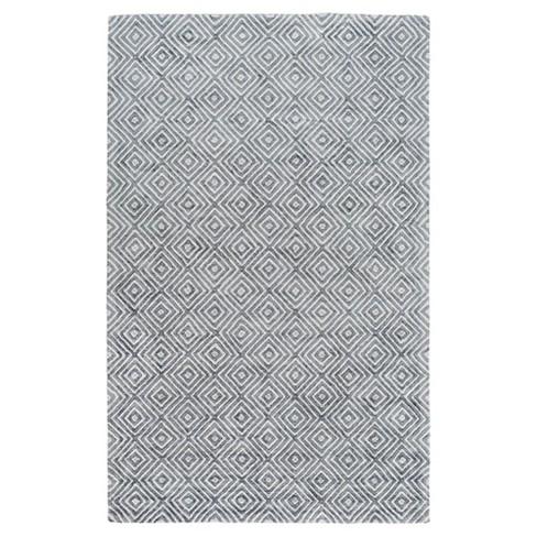 Light Gray Abstract Woven Area Rug - (9'X13') - Surya - image 1 of 3
